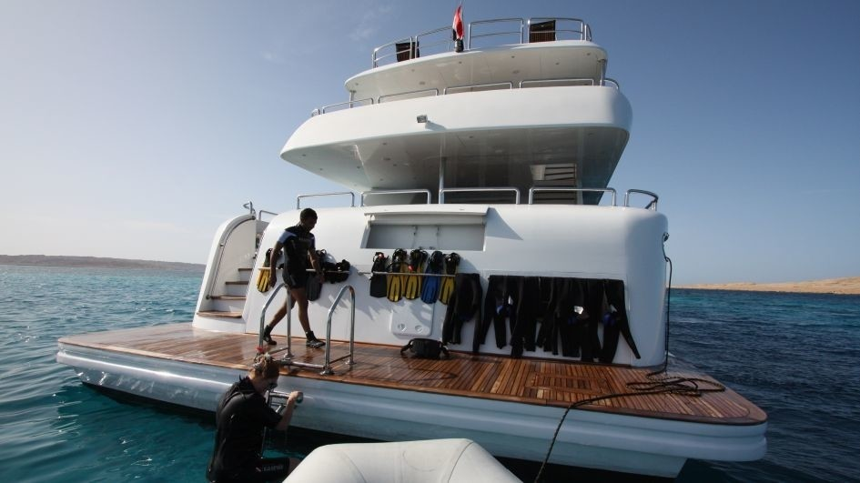 Aft Aboard Yacht SEVEN SPICES