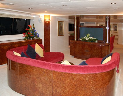 Premier Saloon On Board Yacht LADYSHIP