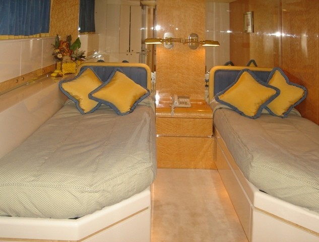 Twin Bed Stateroom Aft On Yacht LADYSHIP