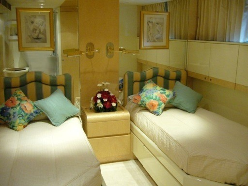 Twin Bed Stateroom Aboard Yacht LADYSHIP