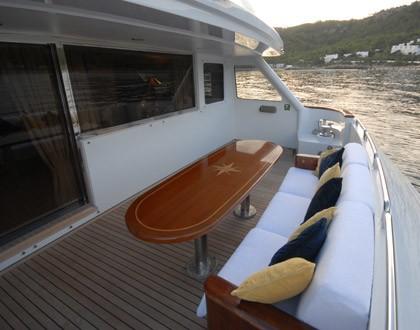 Top Deck: Yacht LADYSHIP's Sitting Zone Captured