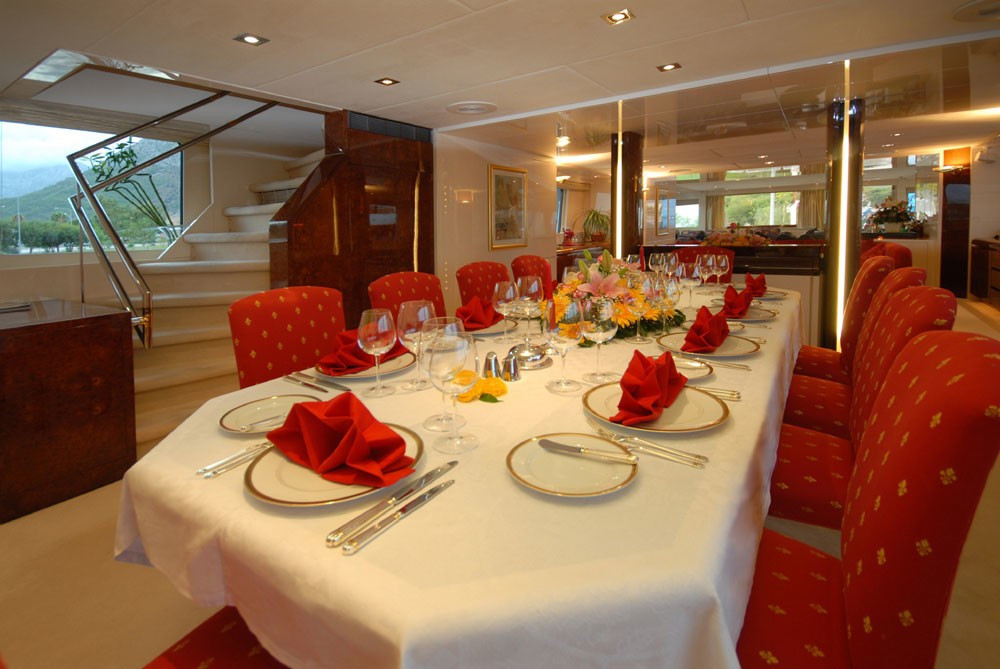 Eating/dining Zone On Board Yacht LADYSHIP