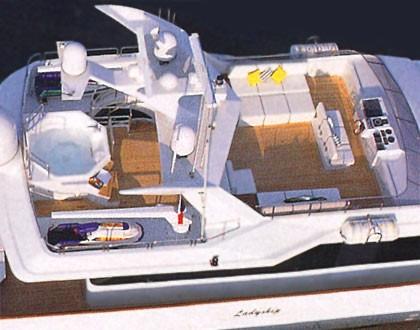 Fly-bridge Aboard Yacht LADYSHIP