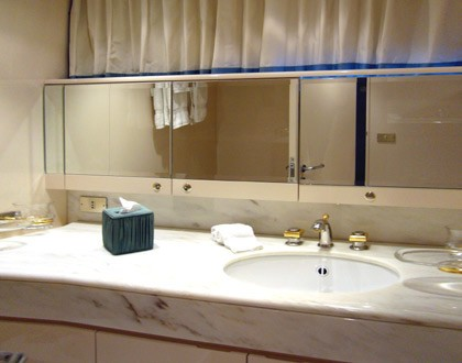 Double Sized Stateroom Bath On Yacht LADYSHIP