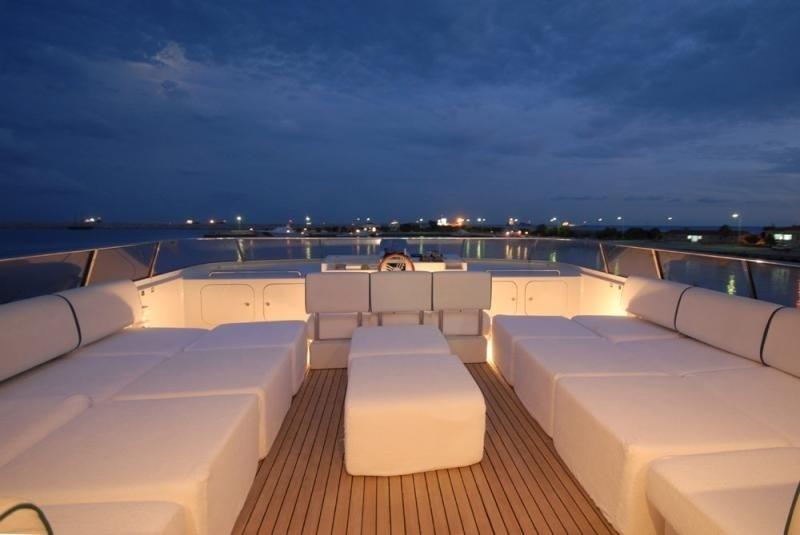 Upper Deck: Yacht LADYSHIP's Sun Bathing Zone Photograph
