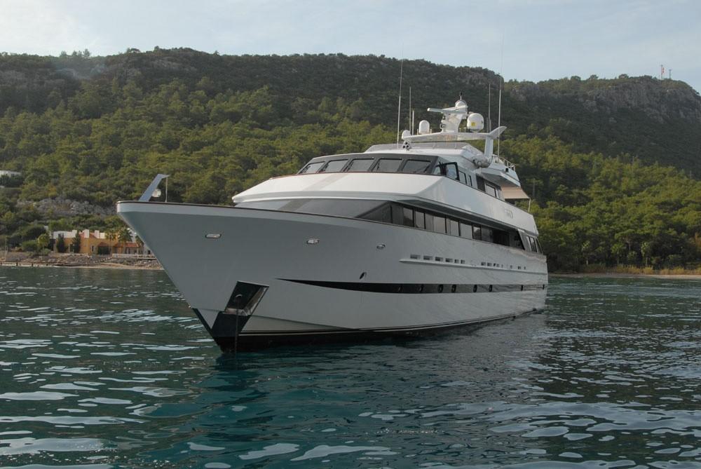 Forward Aspect On Board Yacht LADYSHIP