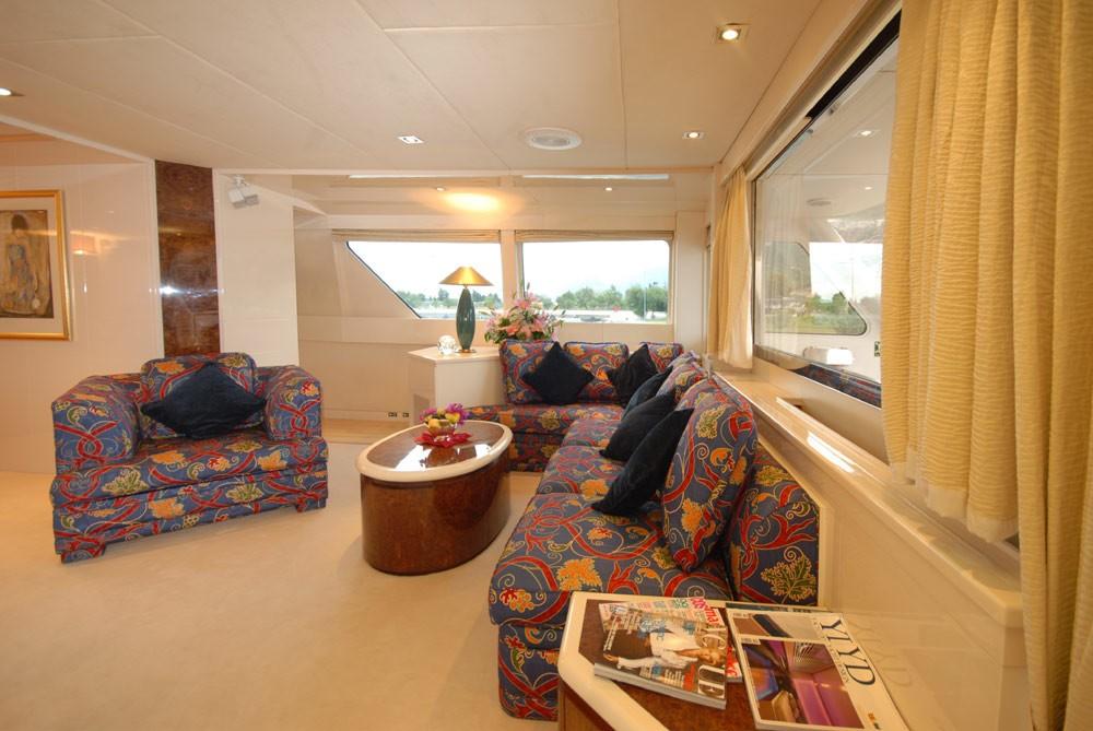 Premier Saloon Sitting Zone Aft On Board Yacht LADYSHIP