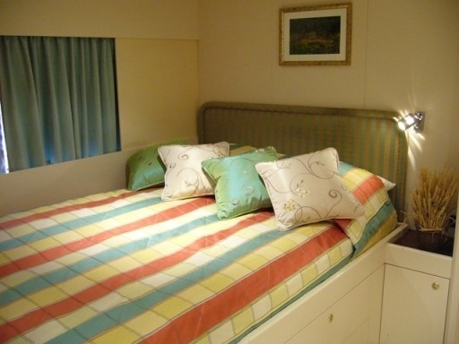Top Deck: Yacht LADYSHIP's Double Sized Stateroom Captured