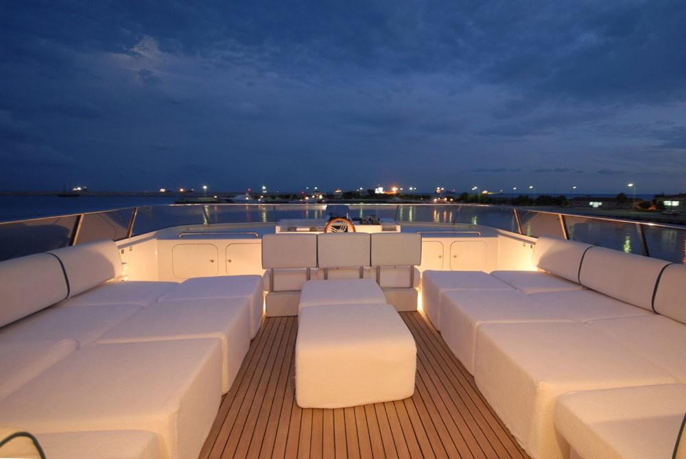 Sunbeds Aboard Yacht LADYSHIP