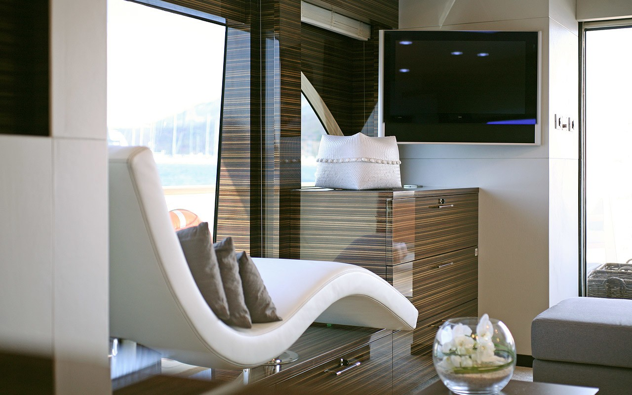 Lounger: Yacht TATII's Saloon Pictured