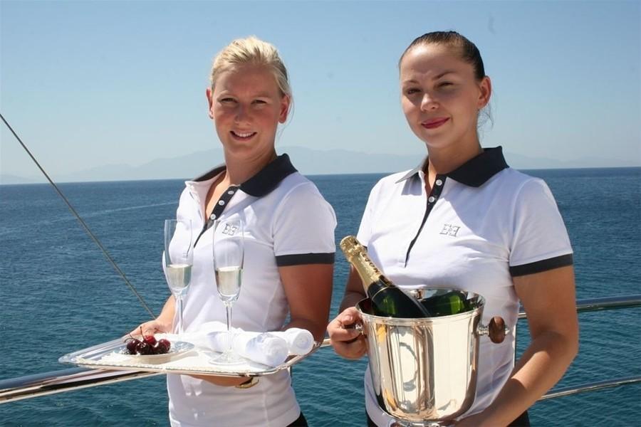 Champaign Glass On Board Yacht E & E