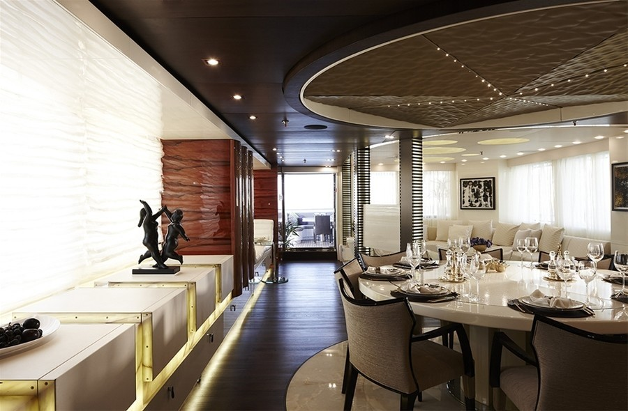Eating/dining Saloon On Yacht E & E