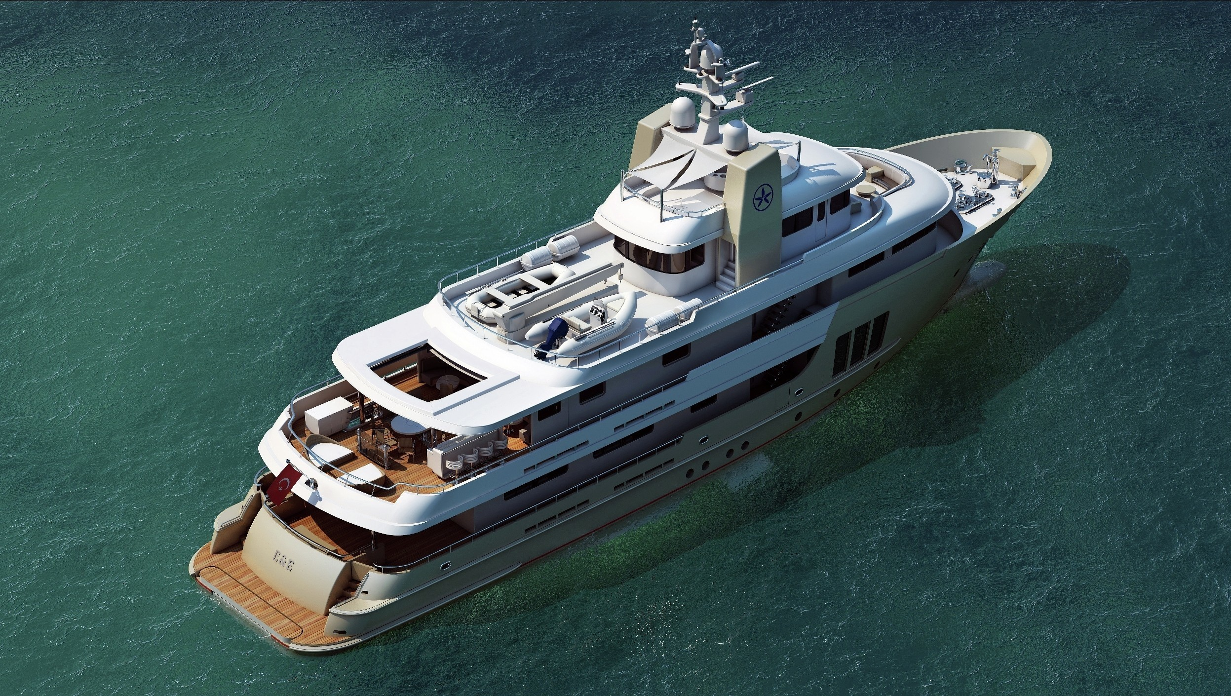 Decks: Yacht E & E's From Above Aspect Photograph
