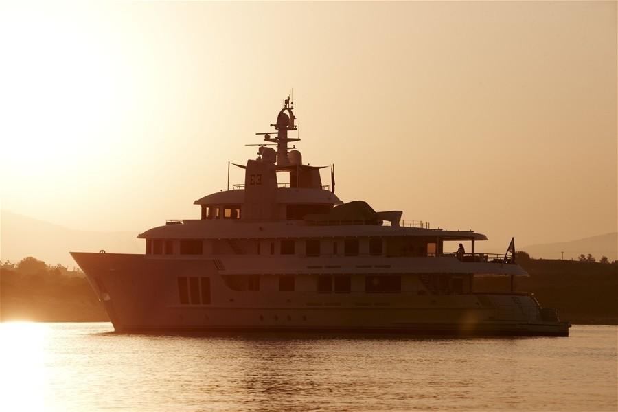 Sunset Dusk On Board Yacht E & E
