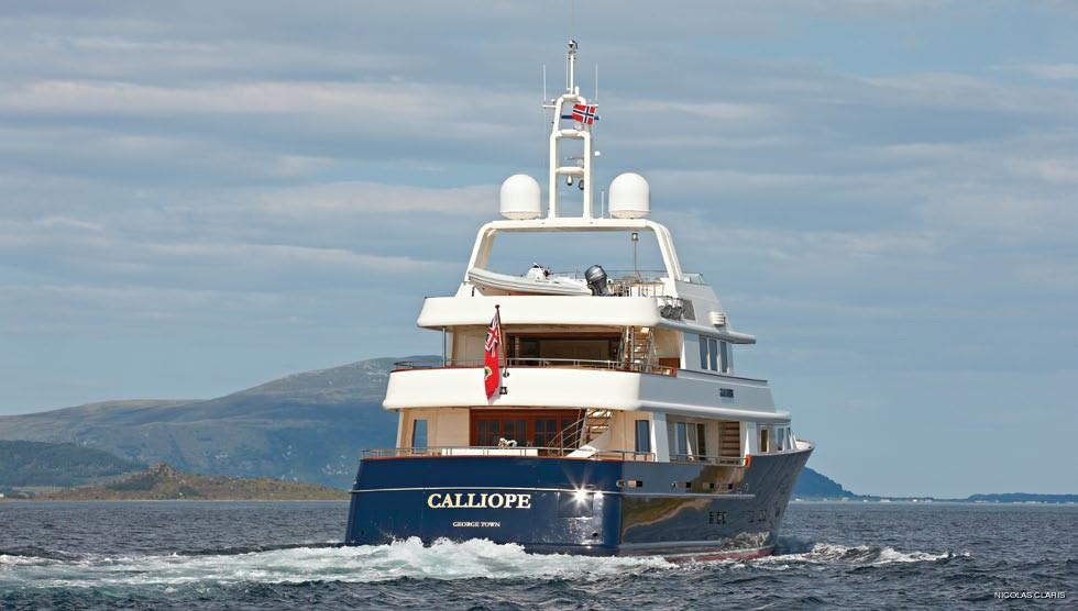 Aft Aspect: Yacht NINKASI's Cruising Photograph
