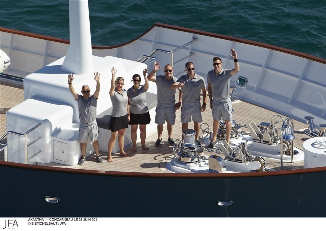 Crewmember's On Yacht AXANTHA II