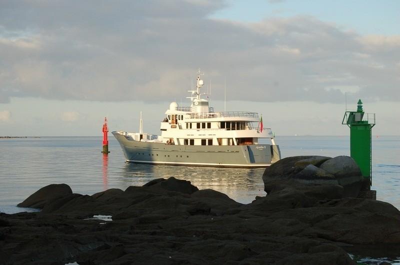 Aspect Taken From Shoreline Aboard Yacht AXANTHA II