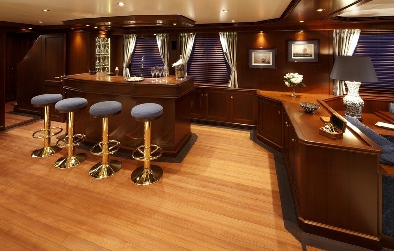 Saloon Drinks Bar On Board Yacht AXANTHA II