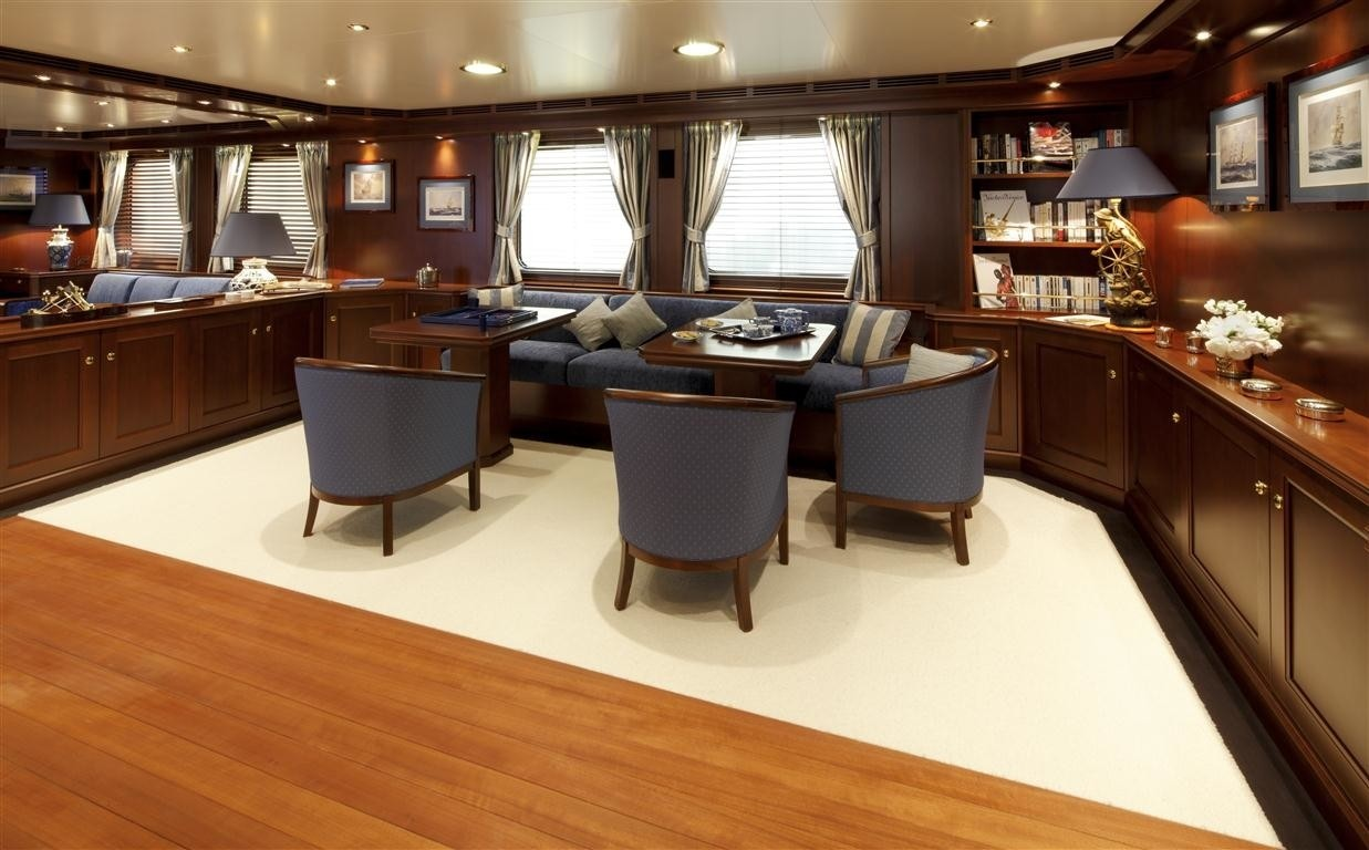 Premier Saloon Sitting On Yacht AXANTHA II
