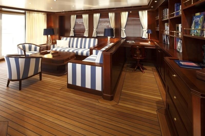Top Lounging Aboard Yacht AXANTHA II