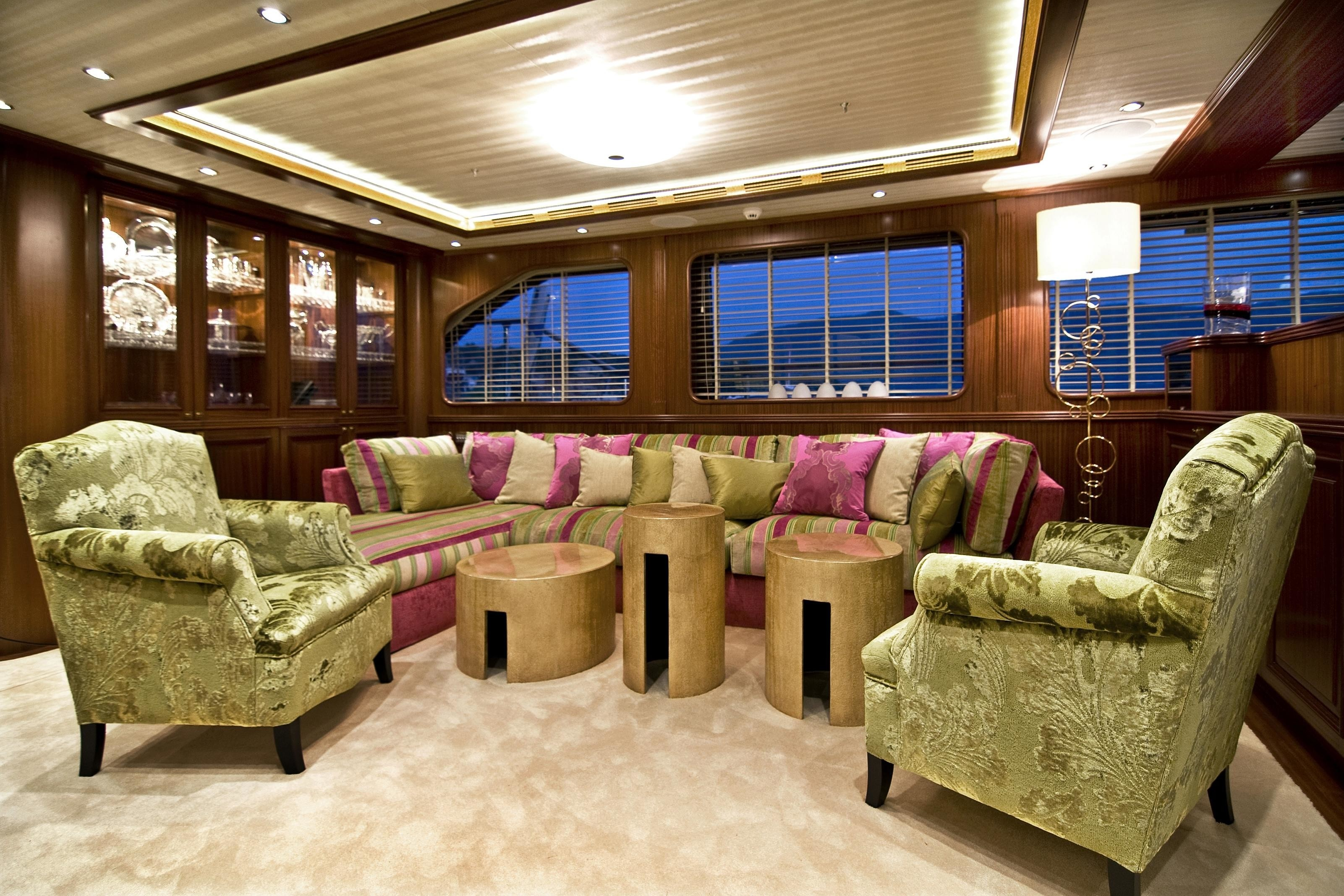 Saloon Sitting Aboard Yacht CLEAR EYES