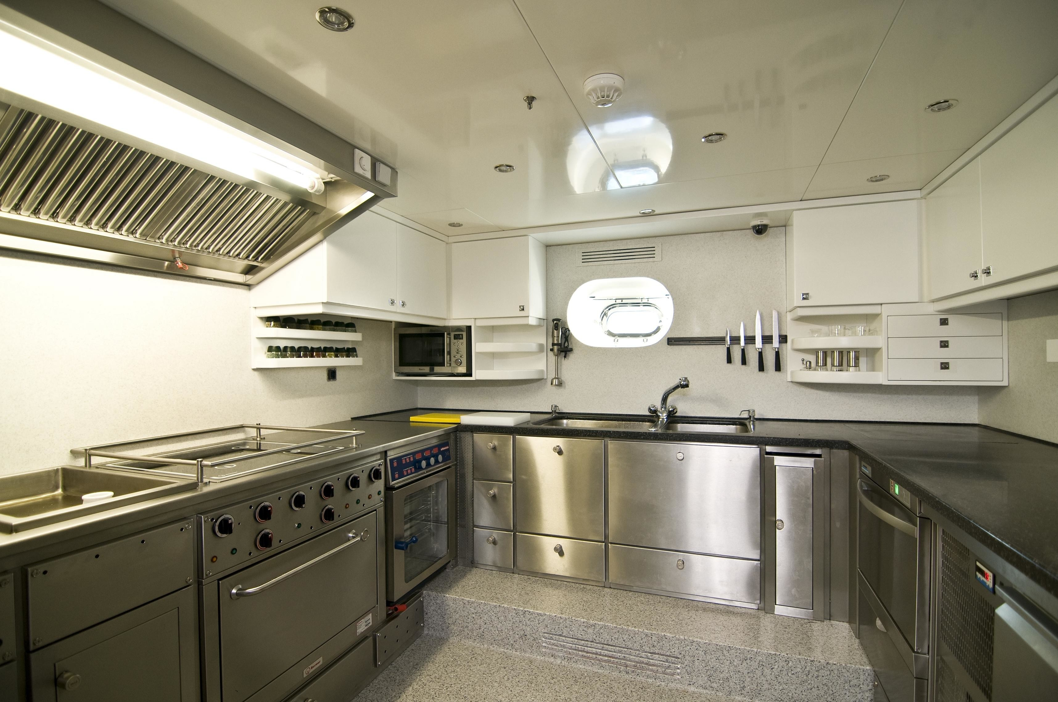 Ship's Galley On Yacht CLEAR EYES