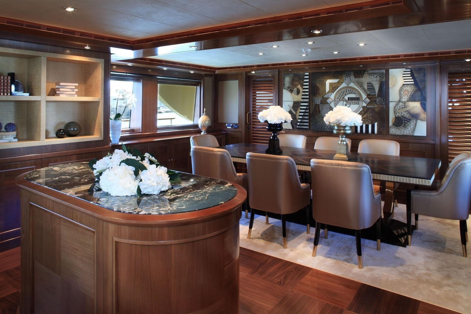 Saloon With Eating/dining Aboard Yacht SOFICO