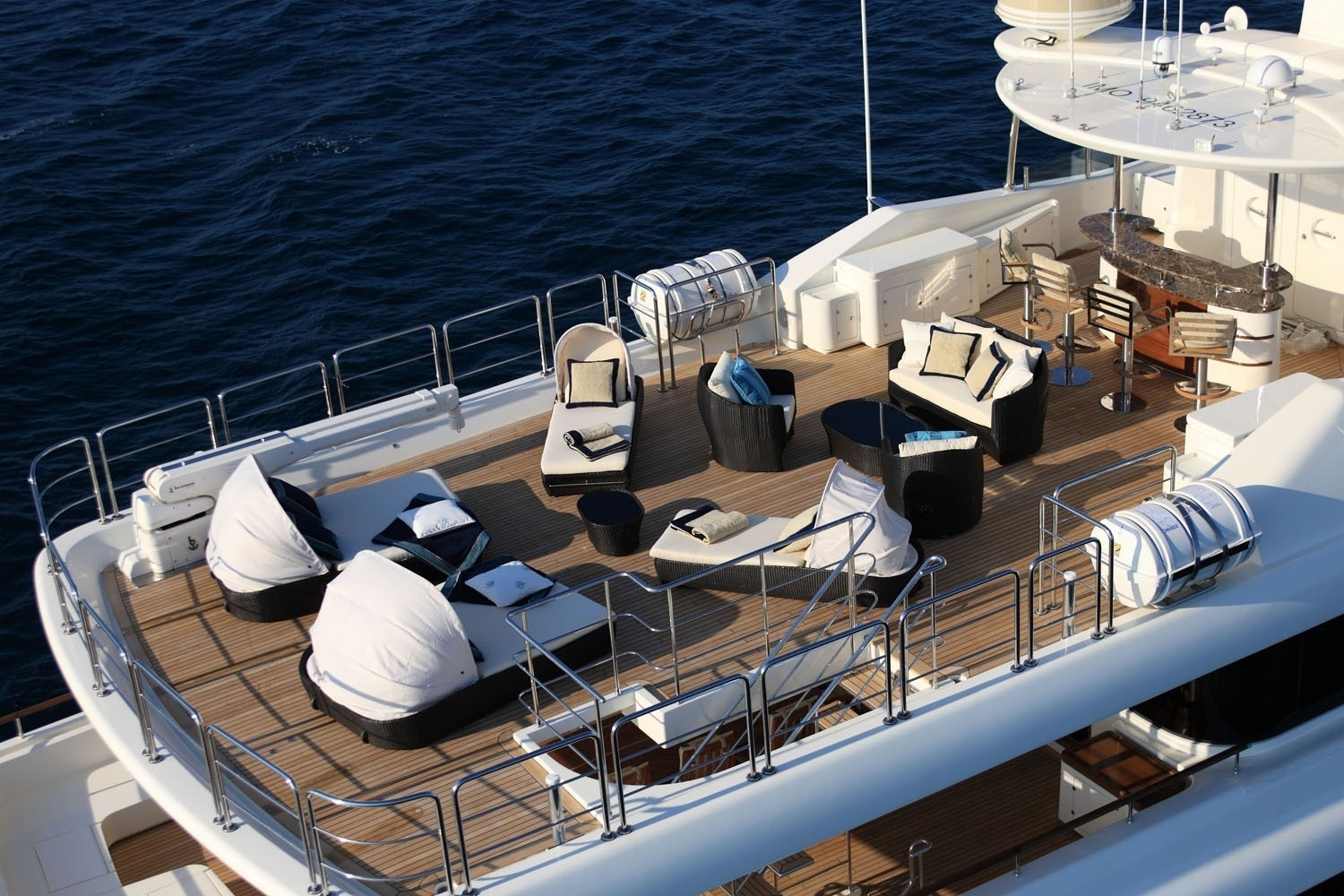 From Above On Board Yacht SOFICO