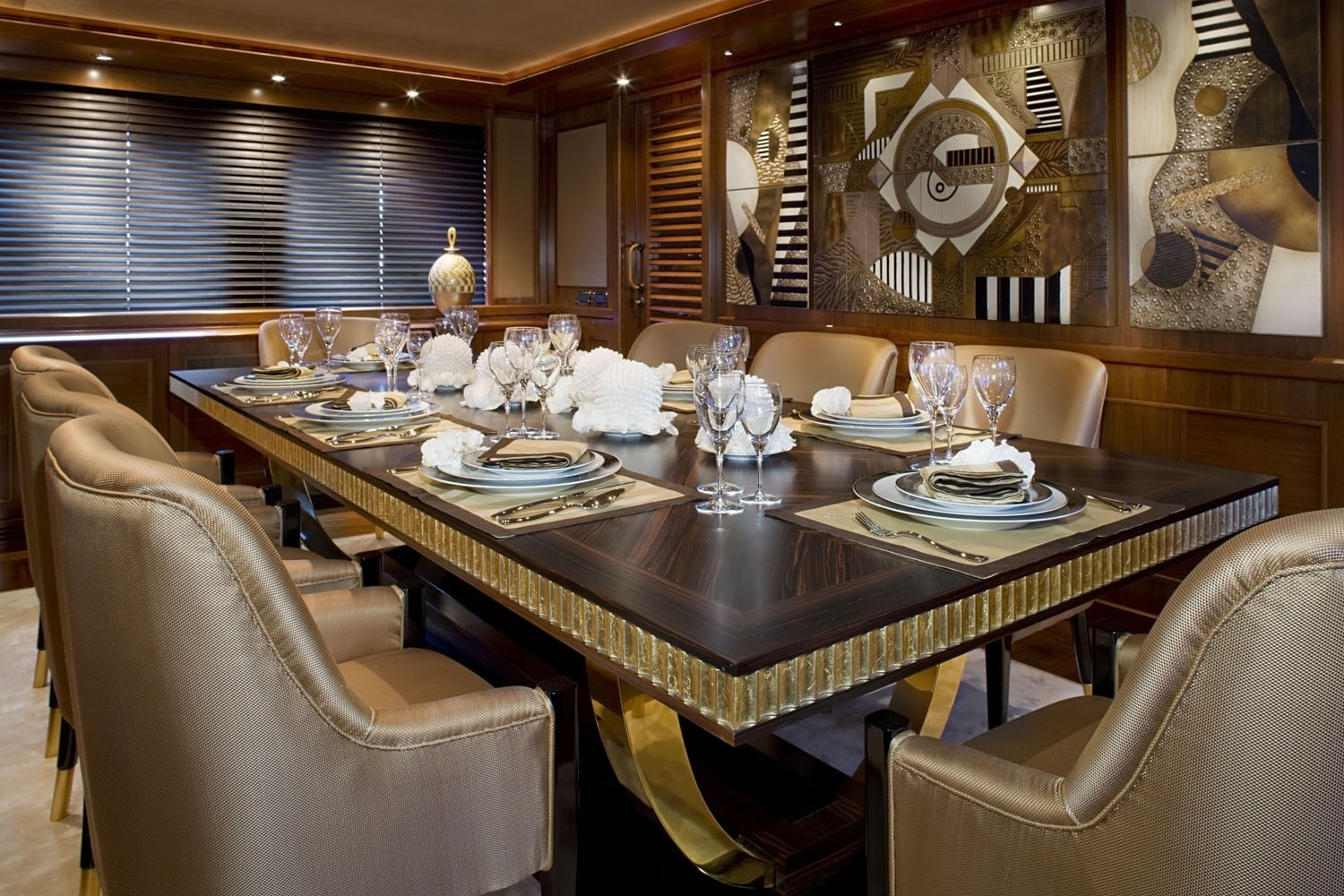 Eating/dining Area On Board Yacht SOFICO