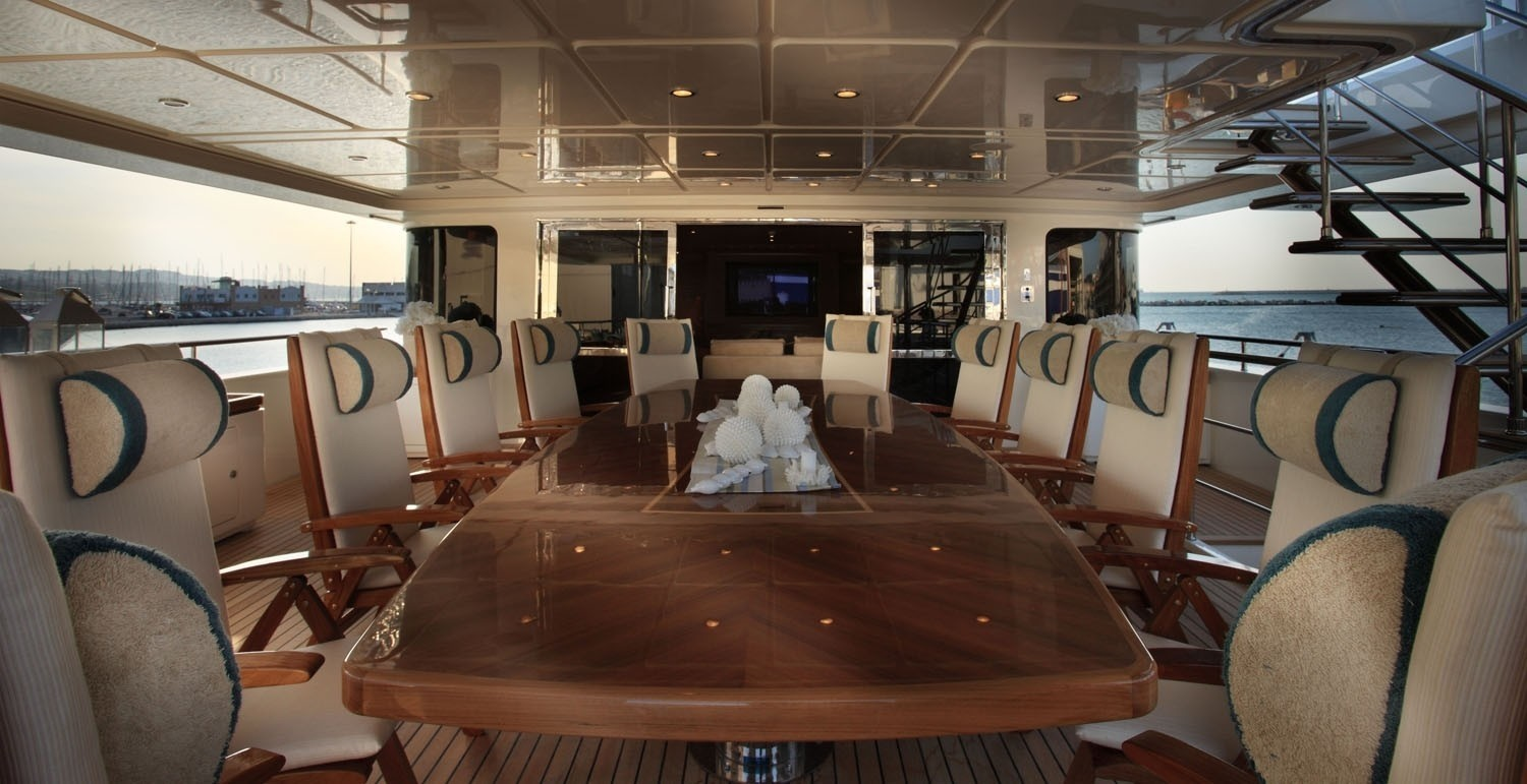 Top Deck On Board Yacht SOFICO