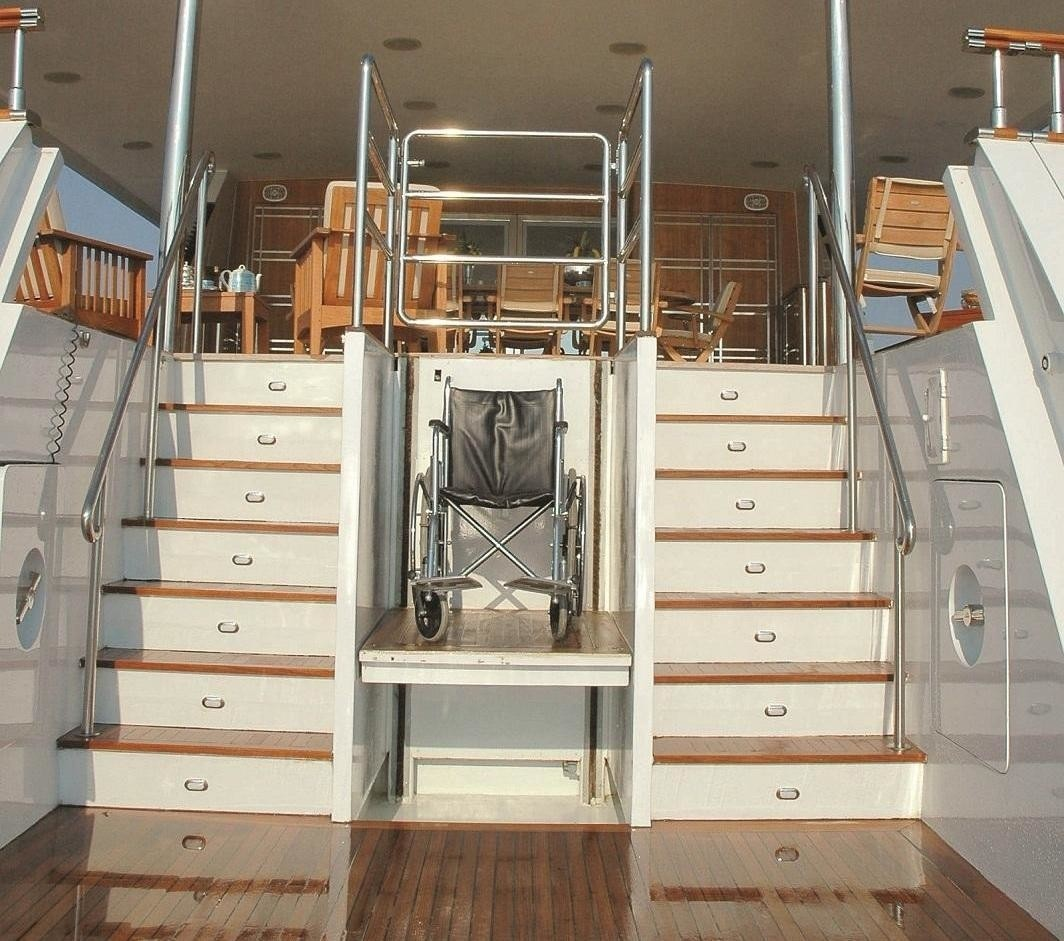 Staircase To Swimming Landing On Yacht BELLA STELLA
