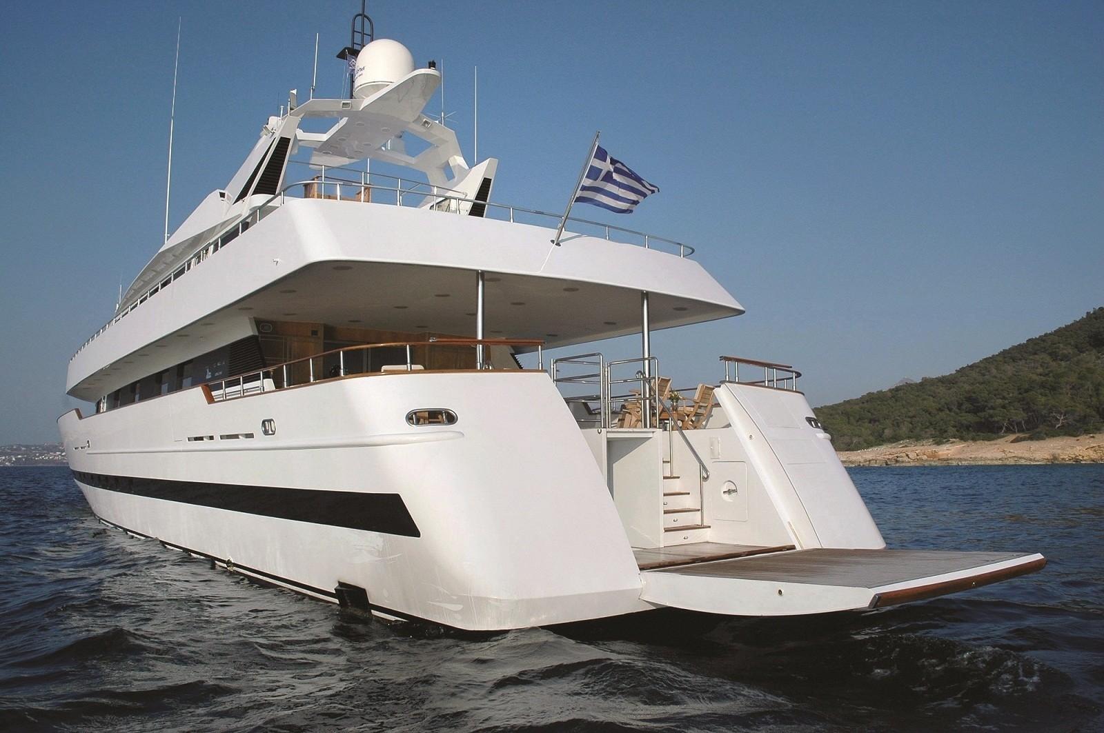 Swimming Landing Extended Aboard Yacht BELLA STELLA