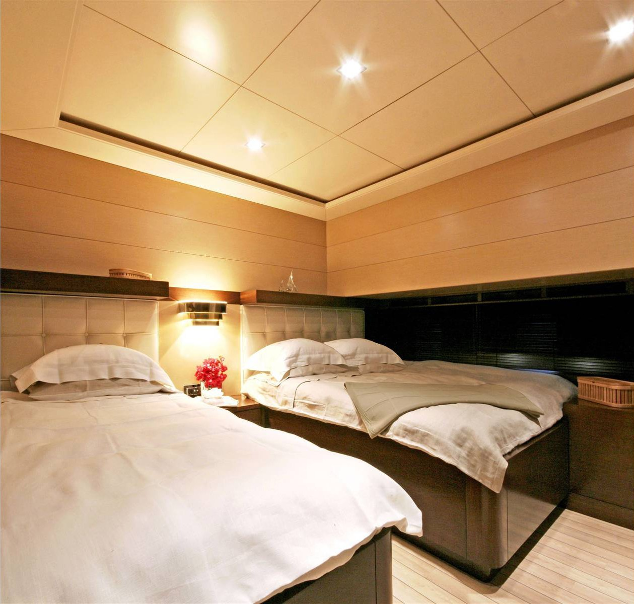 Twin Bed Cabin On Board Yacht INFINITY