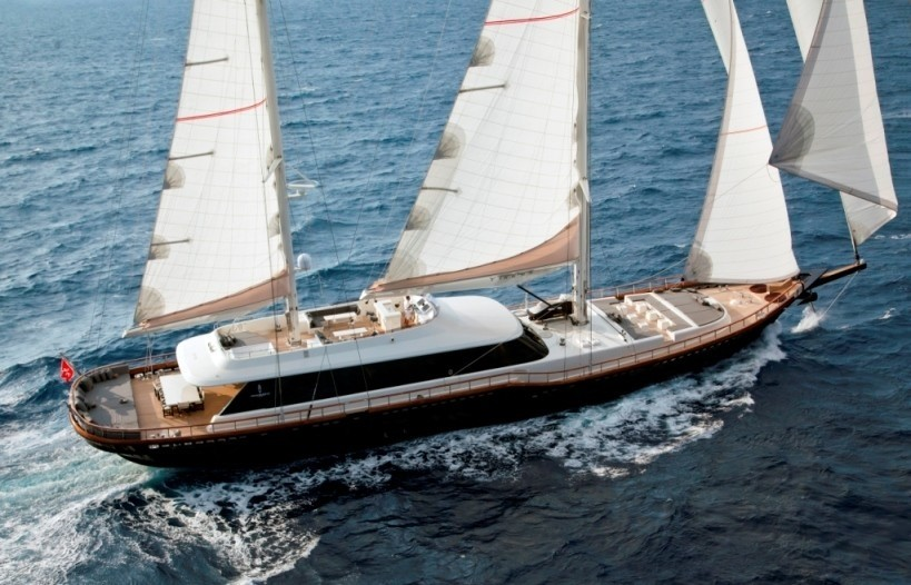 From Above Aspect On Yacht INFINITY