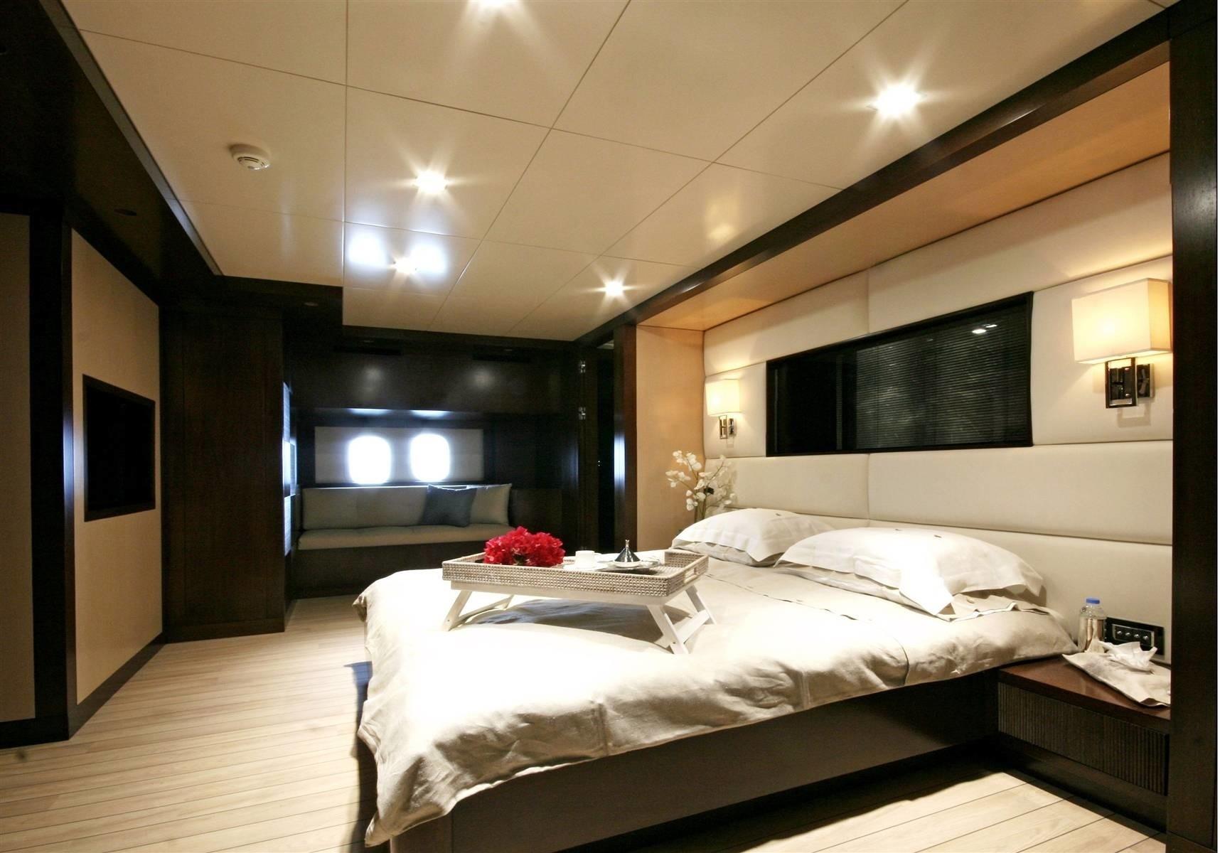 Main Master Cabin Aboard Yacht INFINITY
