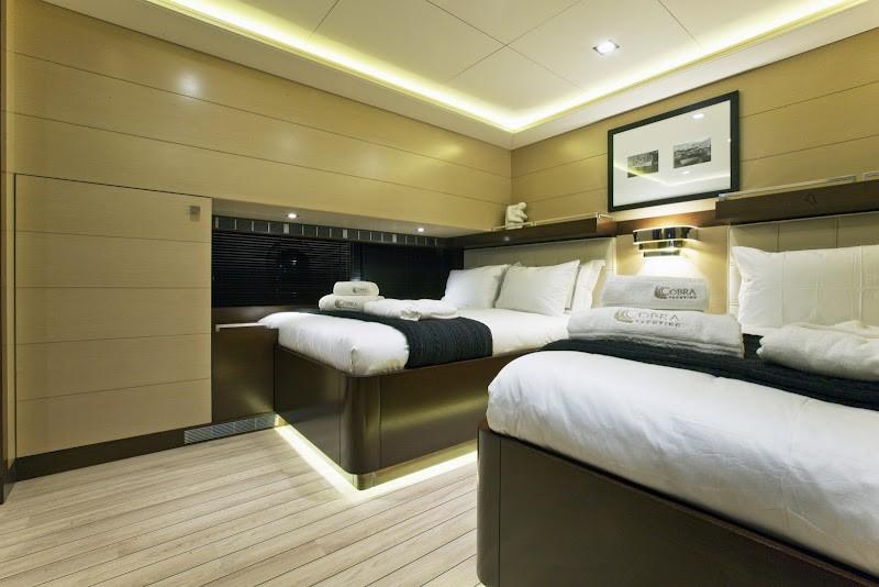 Twin Bed Cabin Aboard Yacht INFINITY