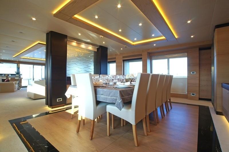 Eating/dining Saloon Aboard Yacht TATIANA