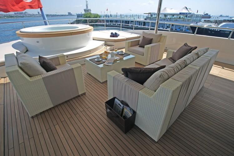Jacuzzi Pool Sitting Aboard Yacht TATIANA