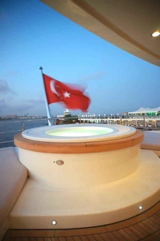 Evening: Yacht TATIANA's Jacuzzi Pool Photograph