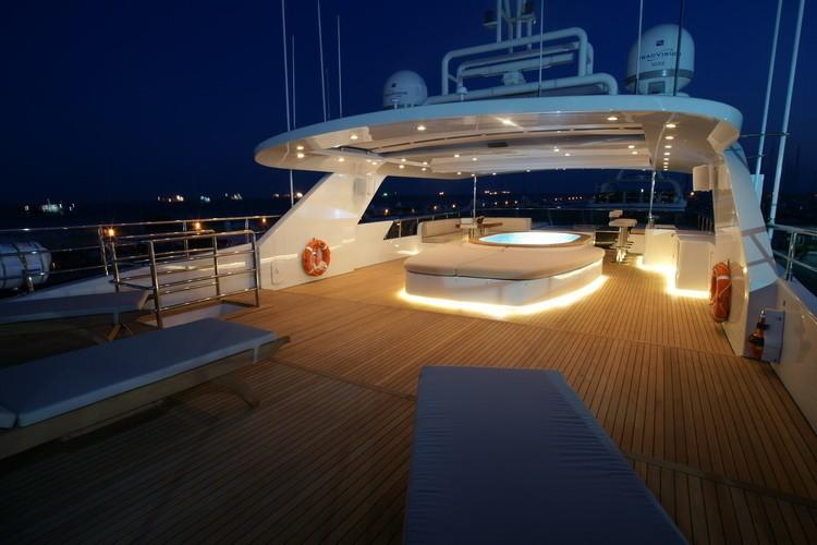 Evening: Yacht TATIANA's Sun Deck Image