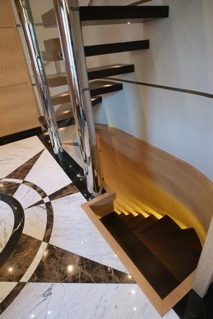 Stairway On Board Yacht TATIANA