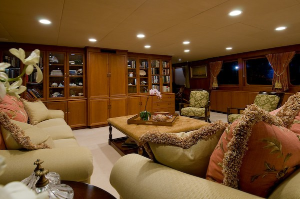Couch: Yacht SEA FALCON II's Premier Saloon Captured