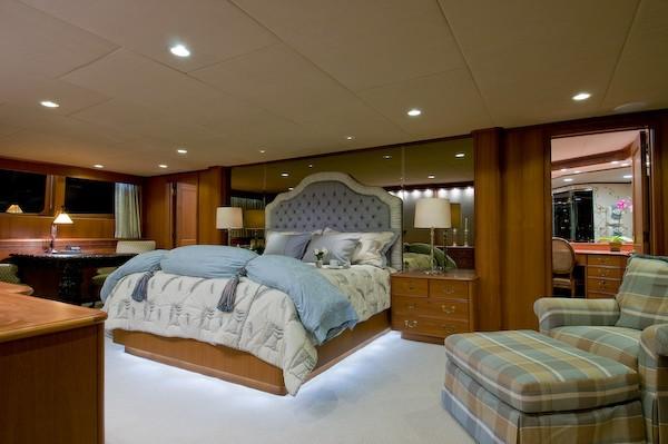Main Master Cabin On Yacht SEA FALCON II