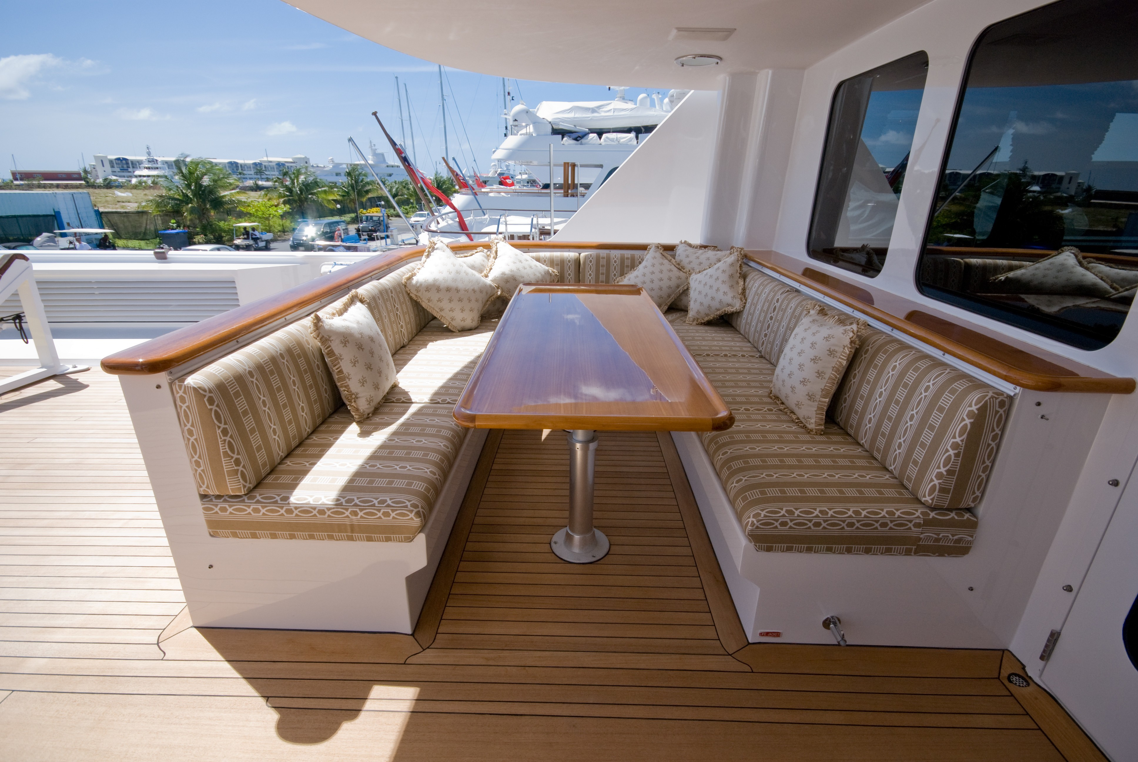 Upper Deck Eating/dining On Board Yacht SEA FALCON II