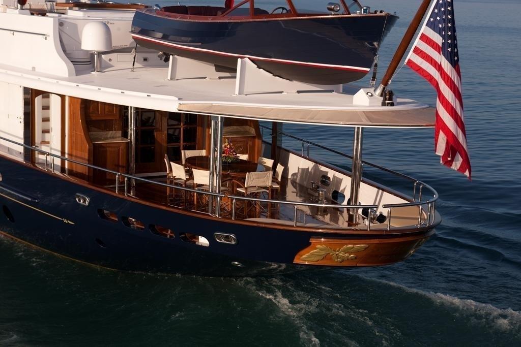 Aft Aspect On Yacht SYCARA IV