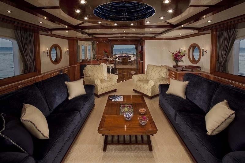 Saloon On Yacht SYCARA IV