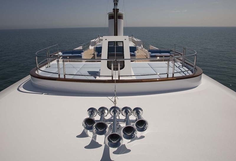 Sunbeds Upon Upper Deck On Yacht SYCARA IV