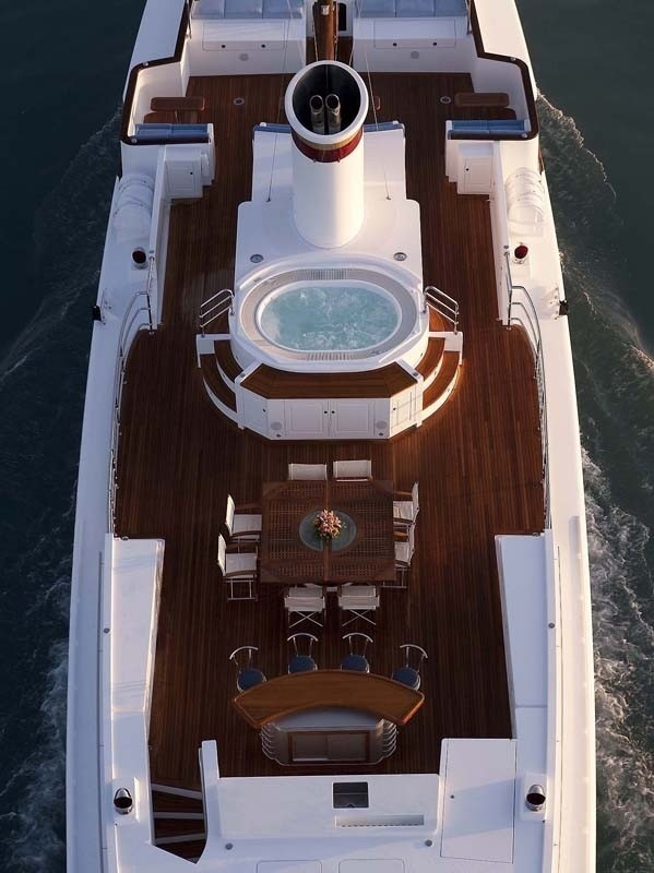 From Above Aspect On Yacht SYCARA IV