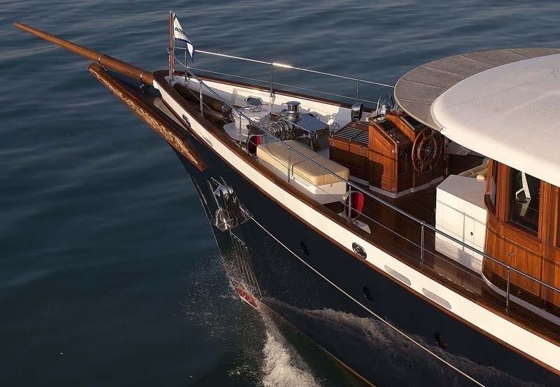 Ship's Bow On Yacht SYCARA IV