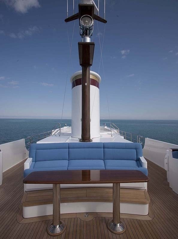 Sunshine Lounging On Yacht SYCARA IV